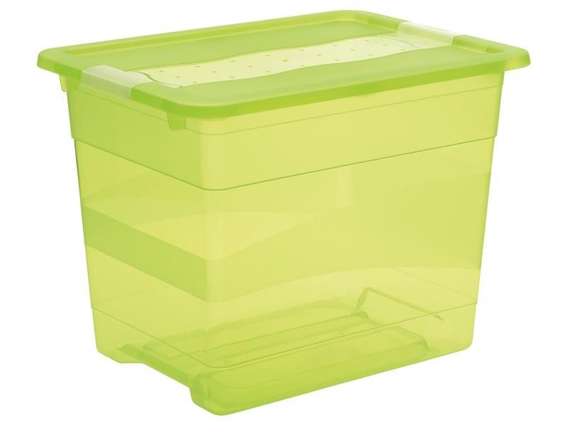 Boîte de rangement KRISTALLBOX vert 29.5x39.5x30cm