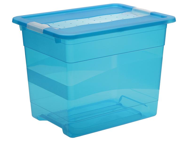 Boîte de rangement KRISTALLBOX bleu 29.5x39.5x30cm