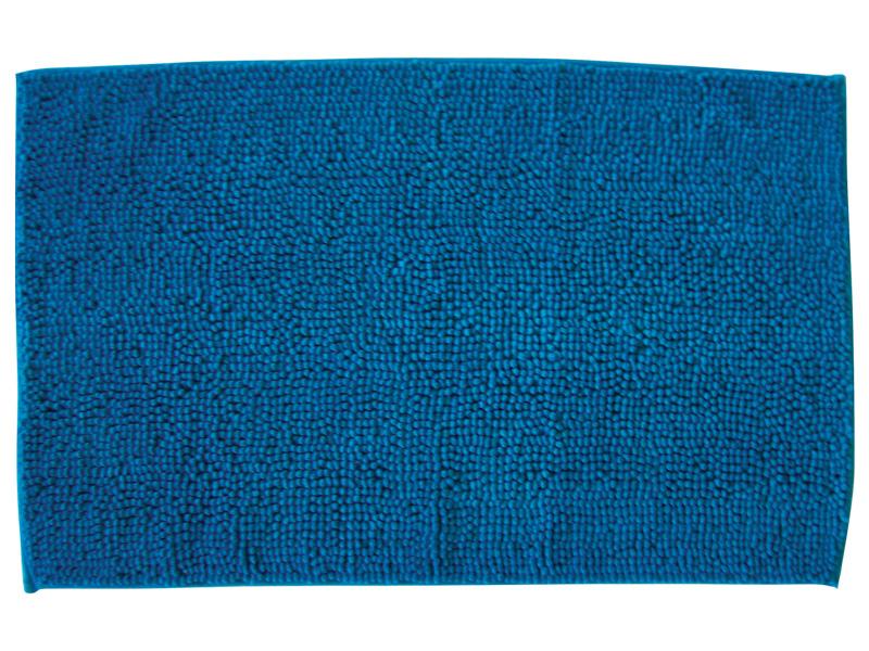 Tapis de salle de bain CHENILLE bleu 80x50cm