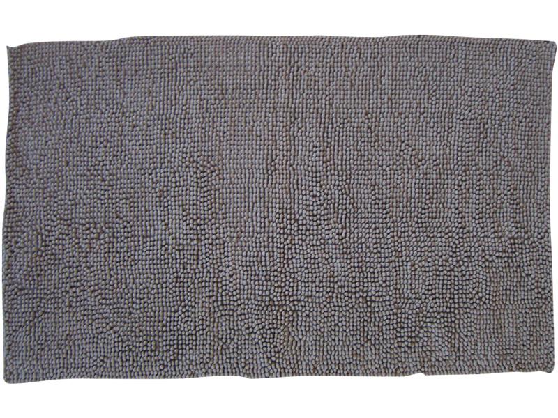 Tapis de salle de bain CHENILLE taupe 100x60cm