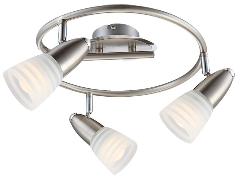 3 Spots LED CALEB Ø16cm 4W argenté