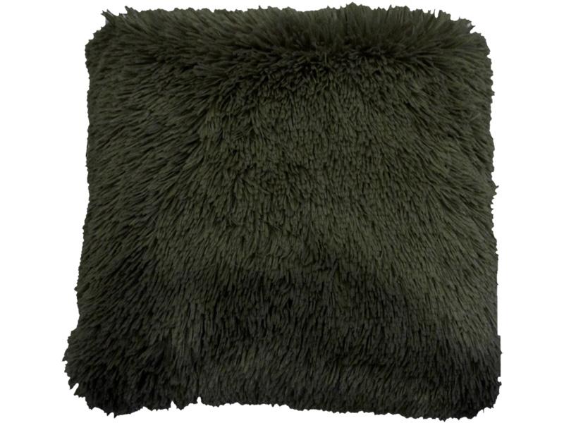 Coussin SHEEP 45x45cm noir fausse fourrure