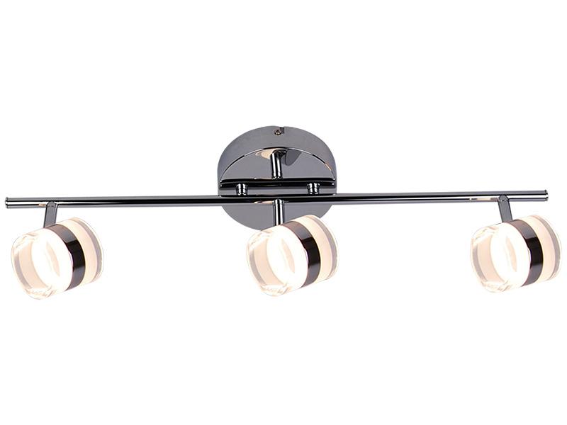 3 Spots LED CANDLE Ø60cm 4.5W argenté