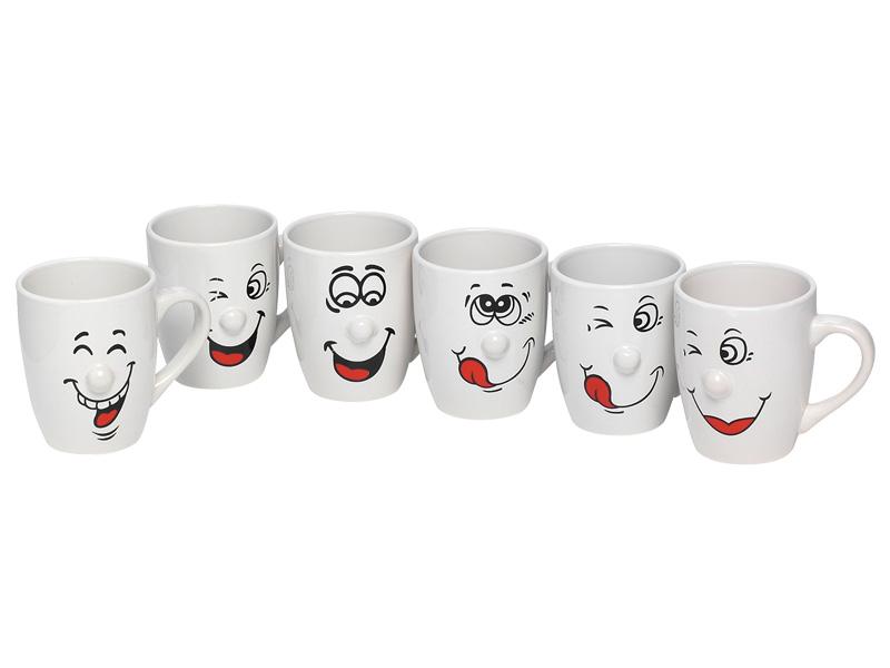 Mug SMILE 30cl porcelaine blanc