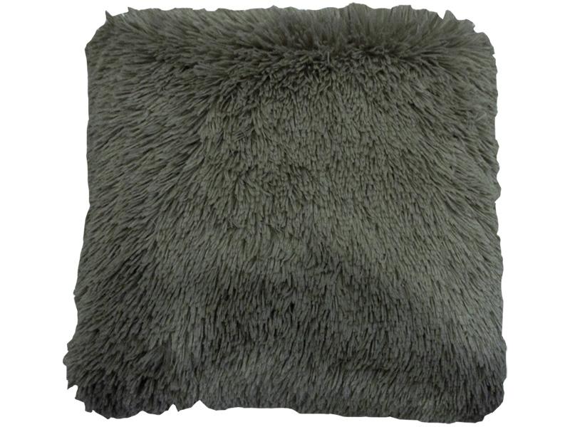 Coussin SHEEP 45x45cm gris fausse fourrure