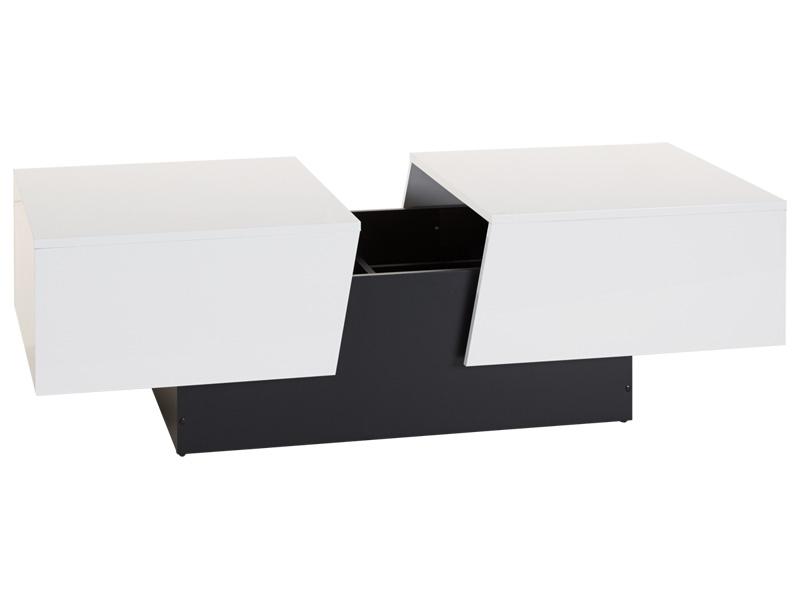 Table basse coffre SHIVA blanc