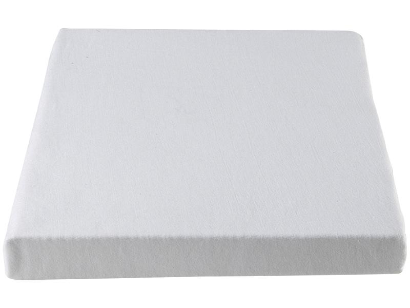 Drap-housse DH JERSEY PEIGNE 70x140cm blanc