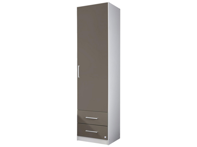 Armoire ALBERO 1 porte 2 tiroirs blanc