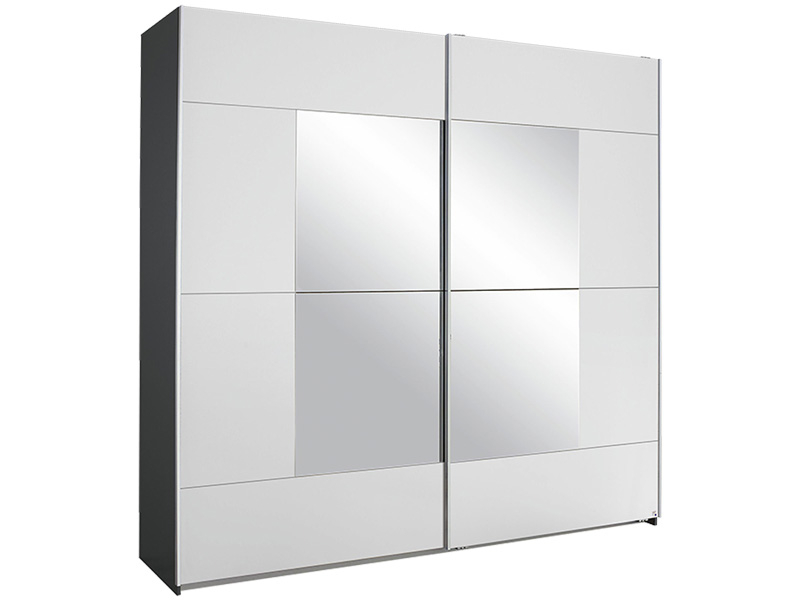 Armoire ENERGY 2 portes coulissantes blanc