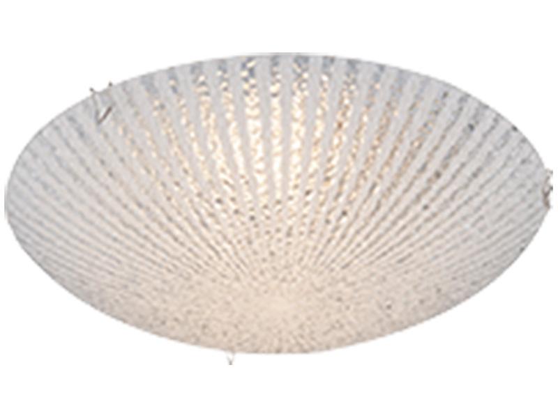 Plafonnier LED FERDI Ø25cm 8W blanc cassé