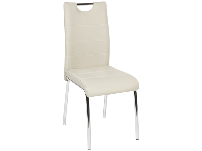 Chaise ARIMA cuir synthétique beige