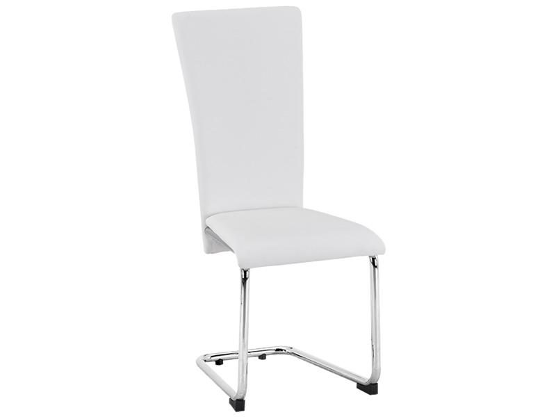 Chaise STAN cuir synthétique blanc