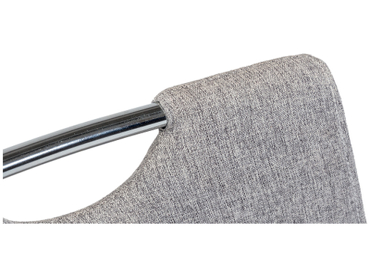 Chaise ARIMA tissu gris
