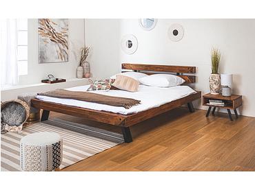 Lit INDUSTRIAL 180x200cm bois massif acacia