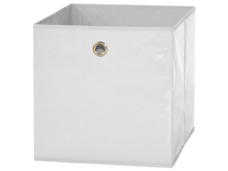 Boîte de rangement EPSILON blanc 31x31x31cm