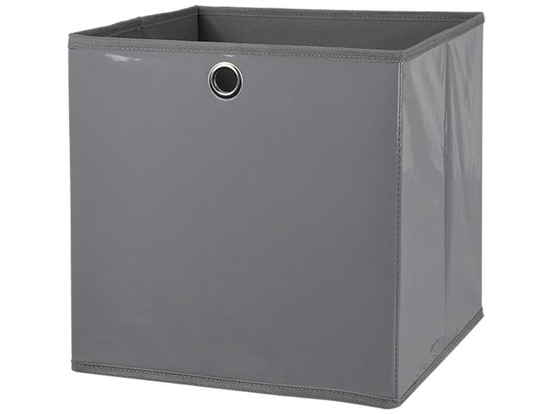 Boîte de rangement EPSILON gris 31x31x31cm