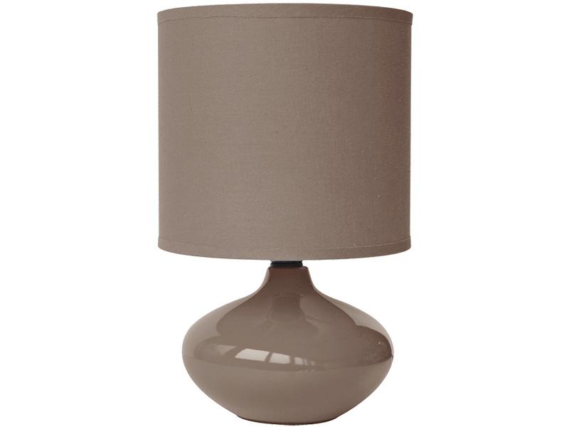 Lampe à poser LED ALIZEE 15cm 24.5cm 40W brun