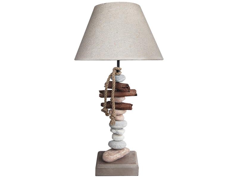 Lampe à poser LED BENODET 30cm 58cm 40W taupe