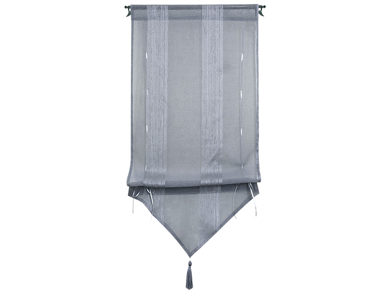Voilage RAYURE 45x90cm polyester gris