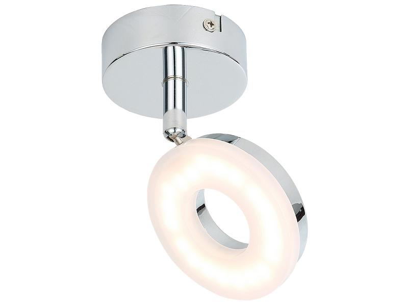 4 Spots LED ROUND Ø11cm 4W argenté