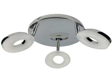 3 Spots LED ROUND Ø20cm 4W argenté