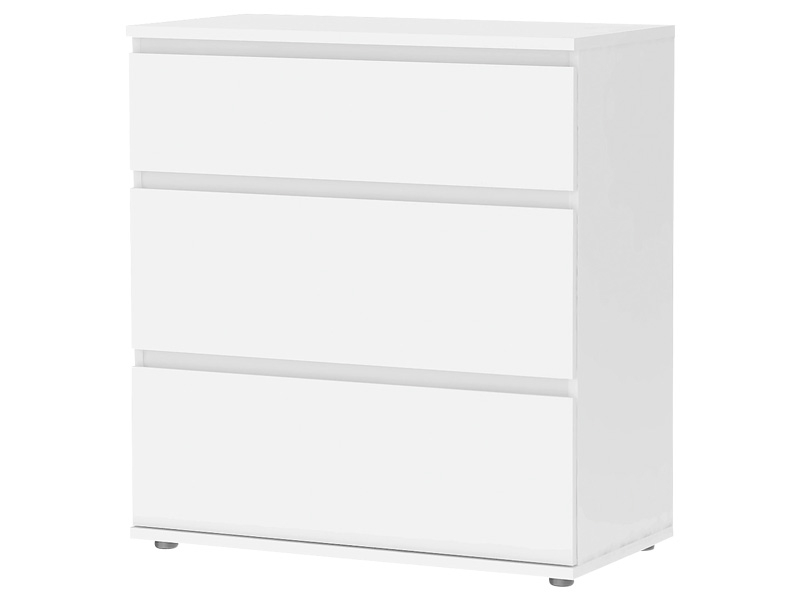 Commode NOVA 3 tiroirs blanc