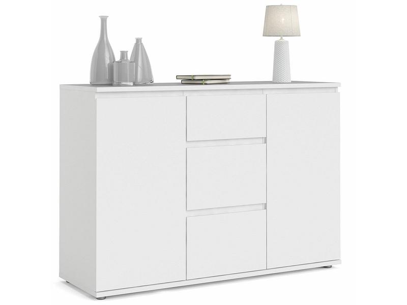 Commode NOVA 2 portes 3 tiroirs blanc