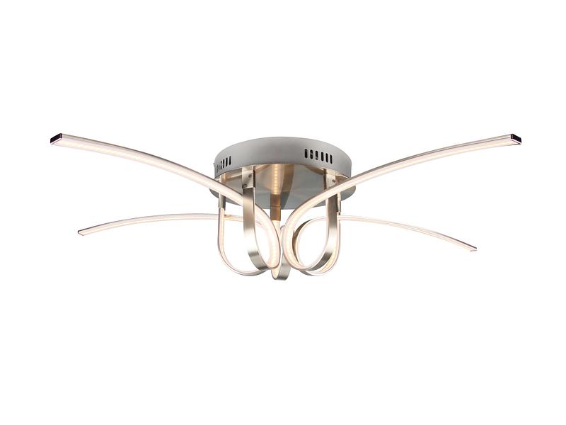 Plafonnier LED CROWN Ø90cm 42W argenté