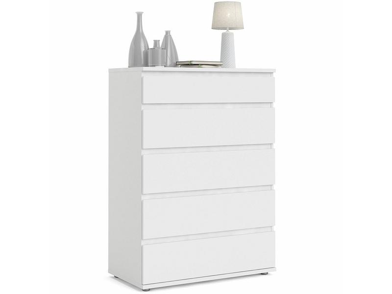 Commode NOVA 5 tiroirs blanc