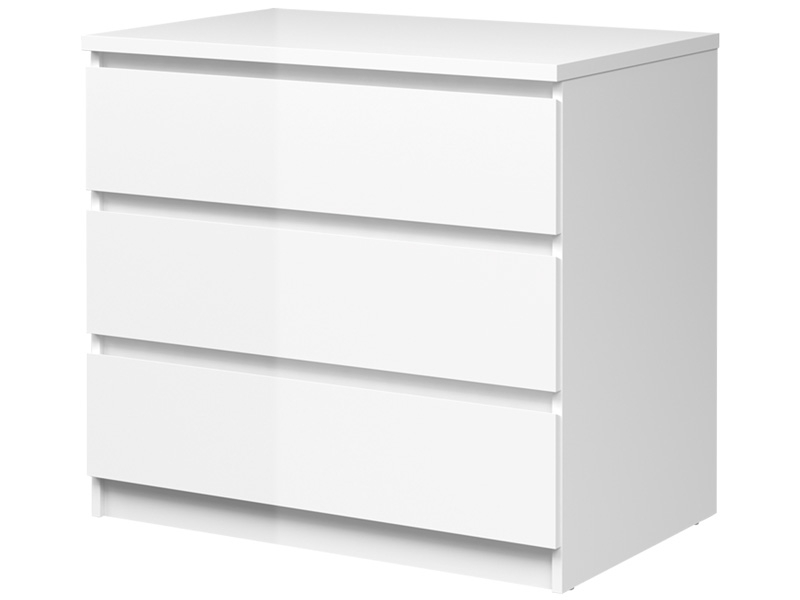 Commode VICKY 3 tiroirs blanc