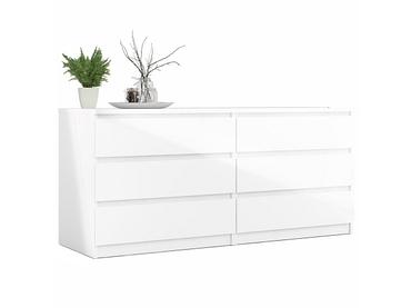 Commode VICKY 6 tiroirs blanc