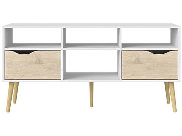 Mobile TV JONAS bianco, quercia