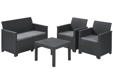Gartensofa-Set grau anthrazit