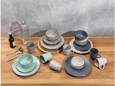 Set stoviglie CORFU 24 pezzi 6 persone ceramica