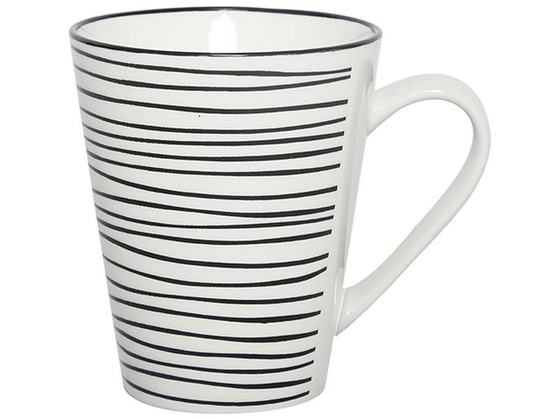 Mug SULLY 32cl porcellana bianco, nero