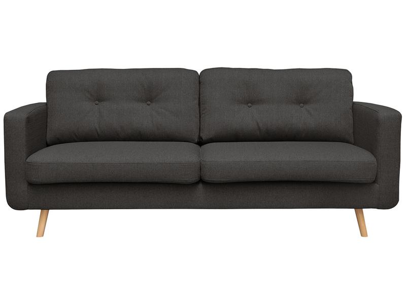 3er Sofa NEVADA Stoff grau anthrazit