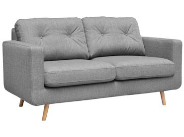 2er Sofa NEVADA Stoff hellgrau