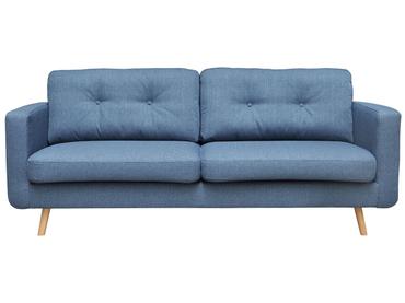 3er Sofa NEVADA Stoff blau, petrol