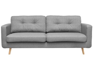 3er Sofa NEVADA Stoff hellgrau
