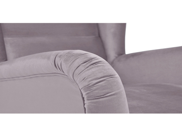 Sessel ARCOS Stoff, Samt rosa, grau