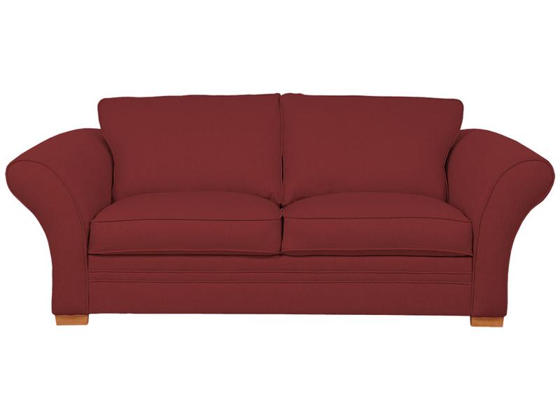 3er Sofa LONDON 2 Stoff rot