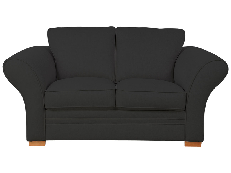 2er Sofa LONDON 2 Stoff schwarz