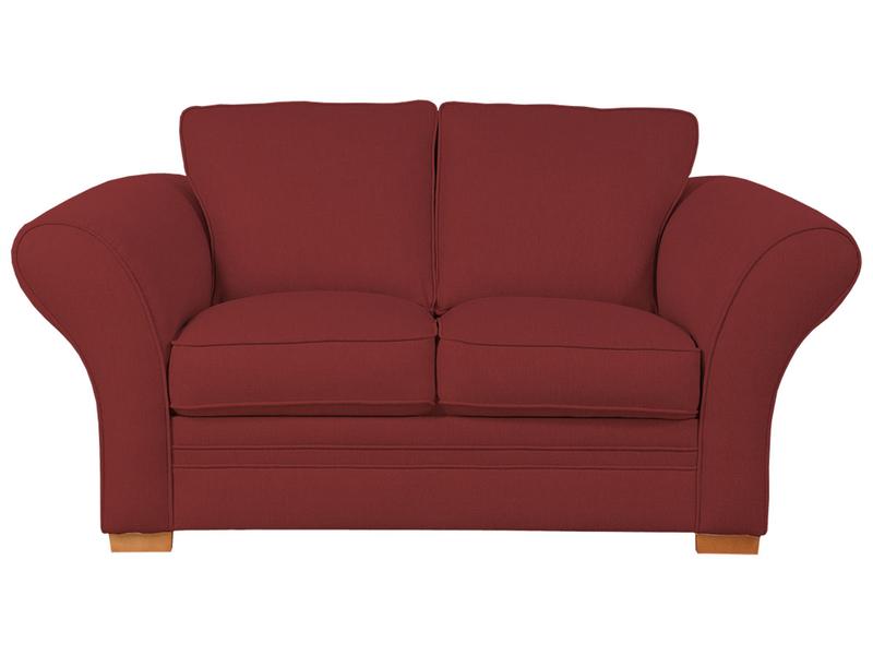 2er Sofa LONDON 2 Stoff rot