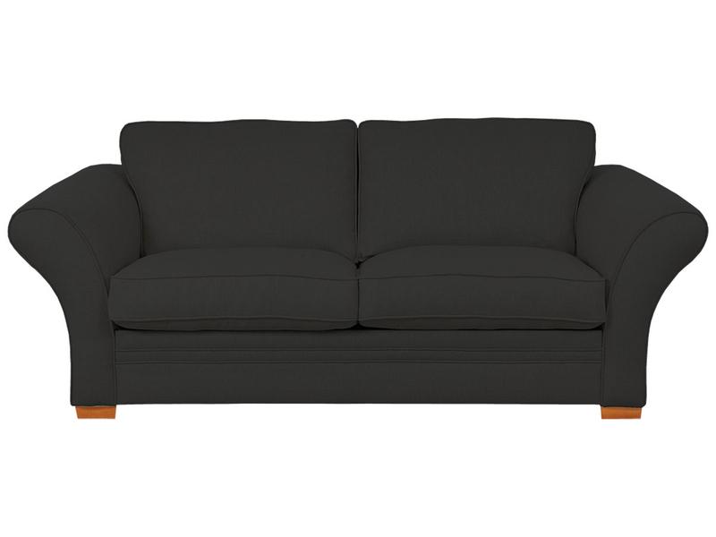 3er Sofa LONDON 2 Stoff schwarz