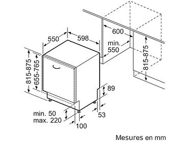 Geschirrspüler SIEMENS 14 Massgedecke - SN75ZX48CE