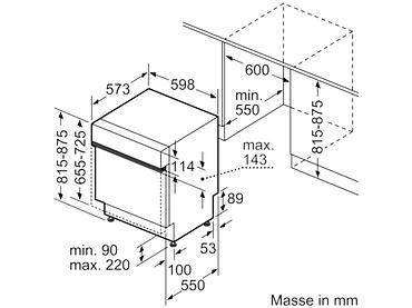 Geschirrspüler SIEMENS 13 Massgedecke - SN53HS37VE
