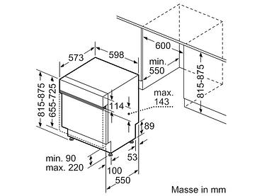 Geschirrspüler BOSCH 14 Massgedecke - SMI4HCS48E