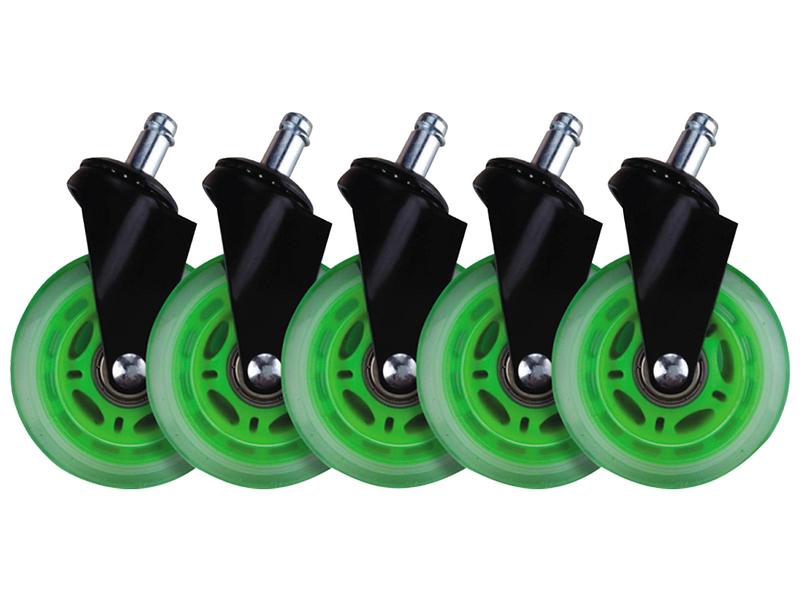 Räder 5er-Set L33T grün