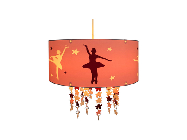 Hängelampe LED BALLET 30x110cm 60W rosa