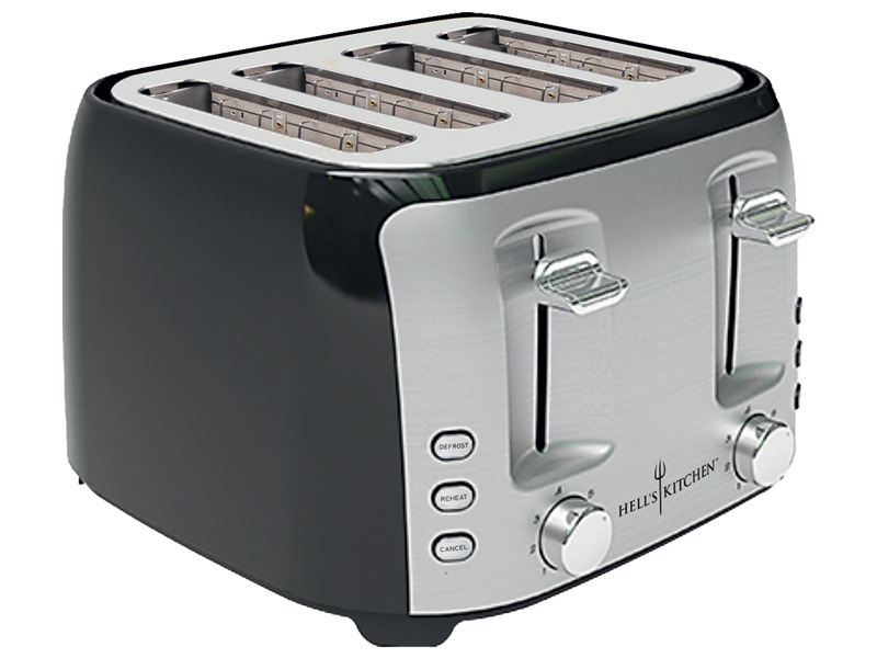 Toaster 4 Fugen HELL'S KITCHEN HKI-TXT-2244TWIN